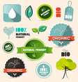 Organic Natural Product Retro Labels - Tags vector image vector image