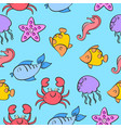 pattern of fish colorful style vector image