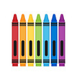 rayons color set flat vector image vector image
