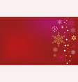 red classic christmas background vector image vector image
