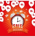 sale discount clock alarm balloons offer vector image