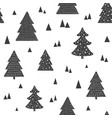 scandinavian seamless pattern with christmas trees vector image vector image