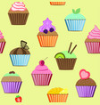 seamless patterns cakes set vector image vector image