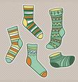 set bright socks vector image