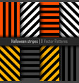 set of patterns for halloween stripes background vector image vector image