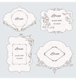 Set vintage ornamental frame labels vector image