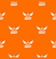 sheriff pattern orange vector image vector image