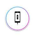 smartphone battery charge icon isolated on white vector image vector image