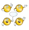Smiling golden coin set vector image vector image