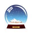 snow globe city sydney in snow globe winter vector image vector image