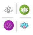 spa salon flowers icon vector image vector image