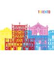 Tarento skyline pop vector image vector image
