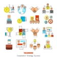 Teamwork Line Icon Set vector image vector image