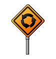 traffic signal round point vector image vector image