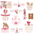 Wedding Vintage Invitation Collection vector image vector image