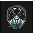 Wolf head design template