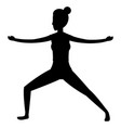 woman and yoga vector image vector image