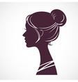 Women silhouette head vector image vector image