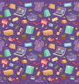 supermarket web shop cartoon seamless vector image