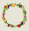 vegetables raw food blank frame vector image