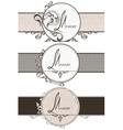 Set vintage ornamental ribbons vector image