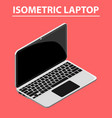 3d isometric laptop flat design isolated vector image