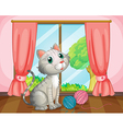 A cat near the window vector image vector image
