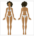 African American woman in swimwear vector image