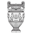 antique state amphora is made out of white marble vector image vector image