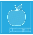 Apple sign White section of icon on vector image vector image