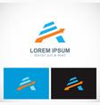 arrow letter a company logo vector image vector image