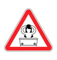 attention girl in bath red prohibitory sign of vector image