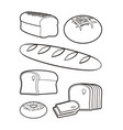 bakery products silhouettes vector image vector image