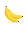 banana cartoon isolated icon flat banana vector image