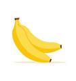 banana cartoon isolated icon flat