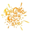 become who you are in orange gradient vector image