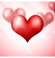 Blur Hearts Valentine day background vector image vector image
