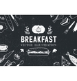 breakfast food hand drawn vector image vector image