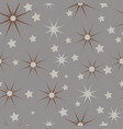 brown beige and grey christmas stars seamless vector image vector image
