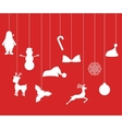 Christmas decorations of paper tape vector image
