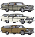 Classic station wagons vector image