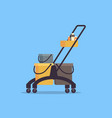 cleaning service trolley cart with supplies vector image