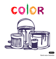 Color banks vector image vector image