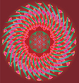 Color ornamental floral mandala vector image vector image