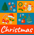 concept xmas card isolated icon cartoon style for vector image vector image