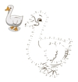 Connect the dots game goose vector image vector image