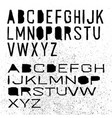 cut off alphabet black letters on white vector image vector image