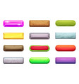 different horizontal cartoon buttons for game vector image