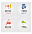 fishing logo set vector image vector image