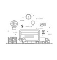 flat design black and white vector image vector image